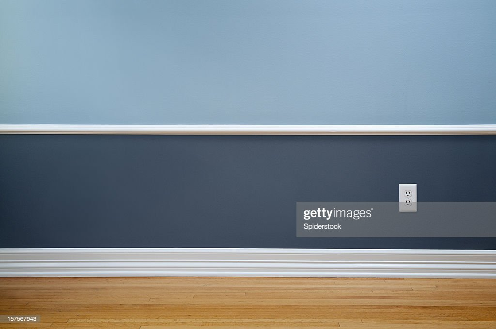 Empty Room With Wall Plug : Stock Photo