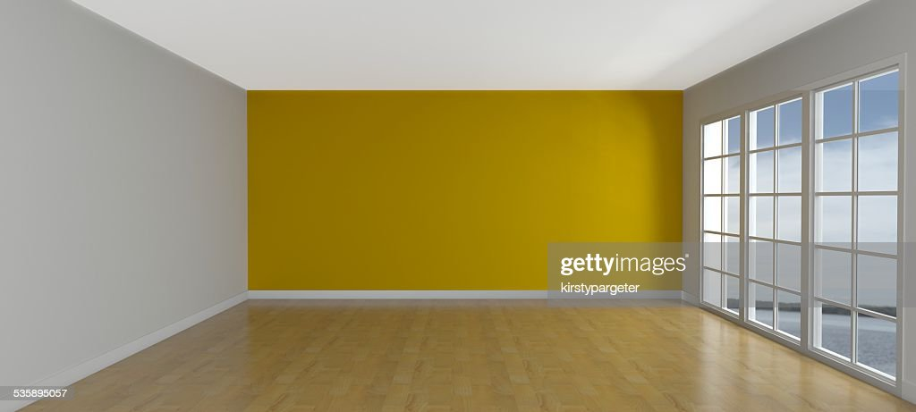 Empty Room with Windows : Stock Photo