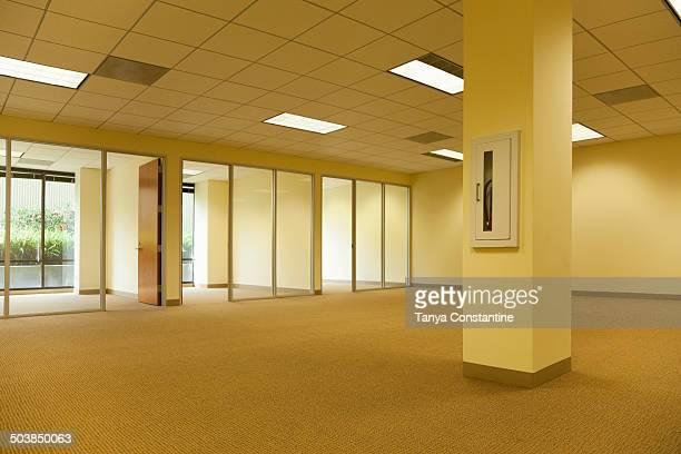 Empty rooms in office building