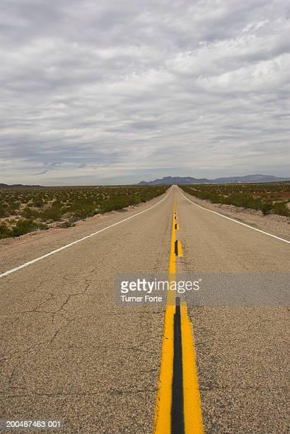 Empty Route 66 highway