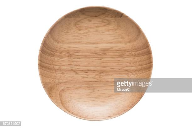 Empty Rubber Tree Wood Plate