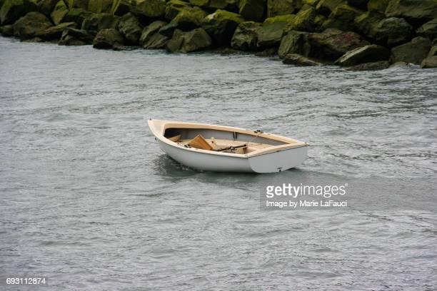 Empty runaway boat with no captain
