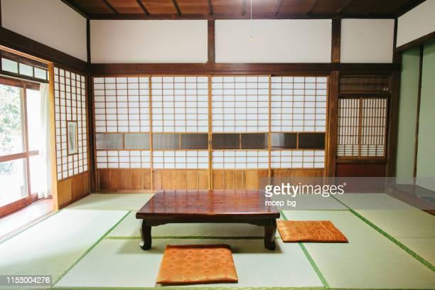 空の旅館室 - minimalist living in japan ストックフォトと画像