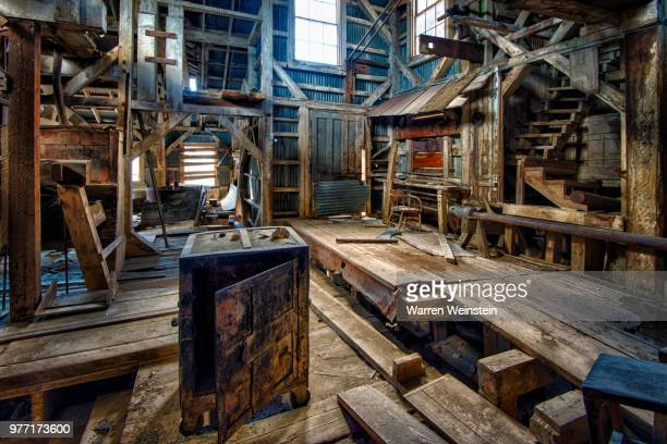 empty safe in wooden mill, bodie state historic park, california, usa - weinstein stock pictures, royalty-free photos & images