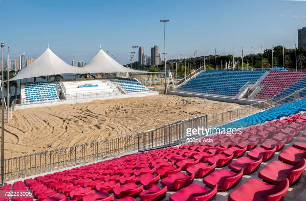 empty sand court, fuzhou, fujian, china - fuzhou stock pictures, royalty-free photos & images