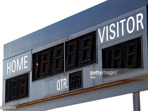 empty score board at soccer field - scoring stock pictures, royalty-free photos & images