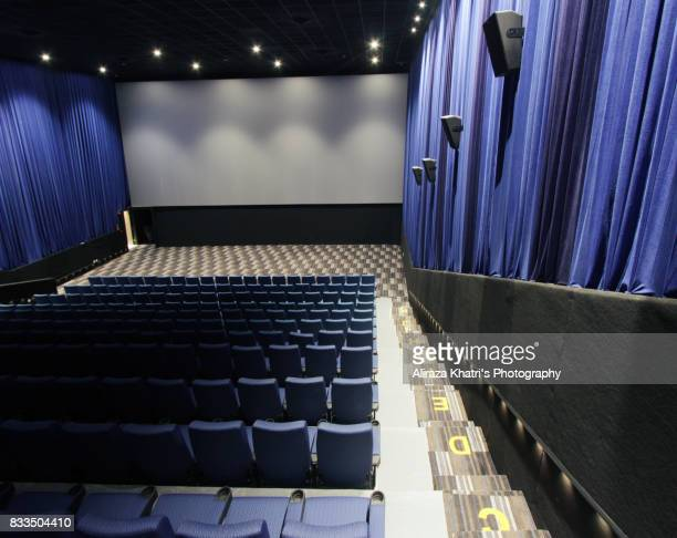 empty screening theater - cinerama dome hollywood stock photos and pictures