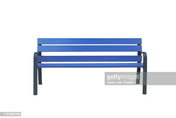 empty seat against white background - bench stock pictures, royalty-free photos & images