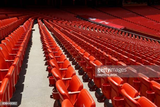 Empty seats at Arrowhead Stadium home of the Kansas City Chiefs football team in Kansas City Missouri on August 12 2017