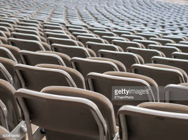 empty seats at the grandstand of berlin olympic stadium - olympiastadion berlin stock pictures, royalty-free photos & images