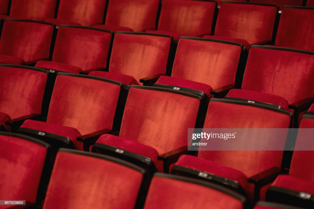 Empty seats at the movie theater : Stock Photo