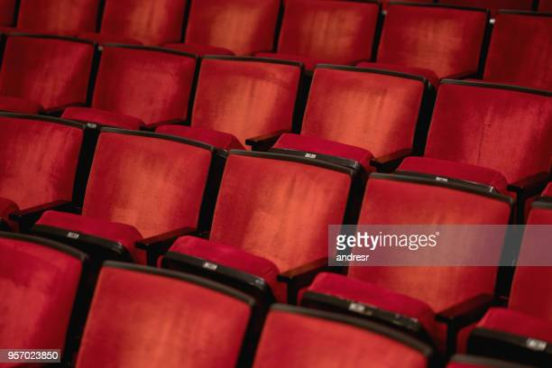 Empty seats at the movie theater