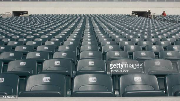 Empty seats at the Philadelphia Eagles stadium prior to the game against the Baltimore Ravens at Lincoln Financial Field on October 31 2004 in...