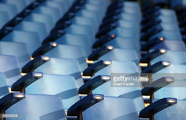 Empty seats before the DFB Cup Second Round match between Hamburger SV and VfL Bochum at the HSH Nordbank Arena on September 24 2008 in Hamburg...