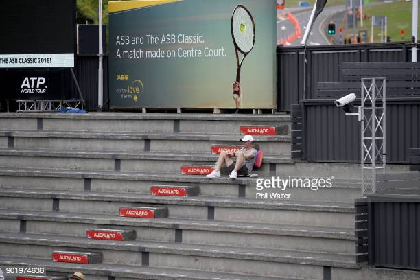 Empty seats before the Womens SIngles Final on day seven of the ASB Women's Classic at ASB Tennis Centre on January 7 2018 in Auckland New Zealand