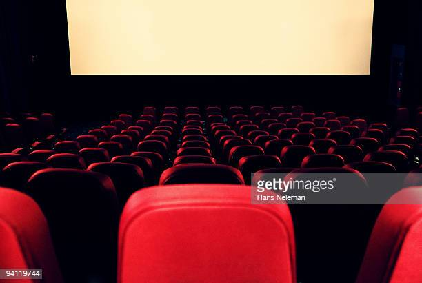 Empty seats in a movie theater, Buenos Aires, Argentina