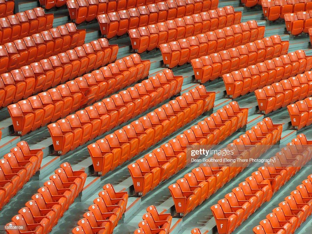 Empty seats in arena : Stock Photo
