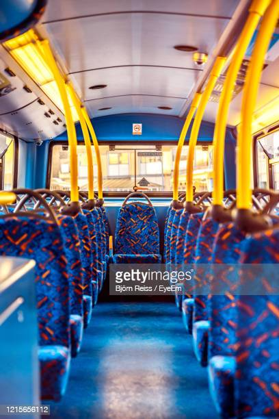 empty seats in bus - bus stock pictures, royalty-free photos & images