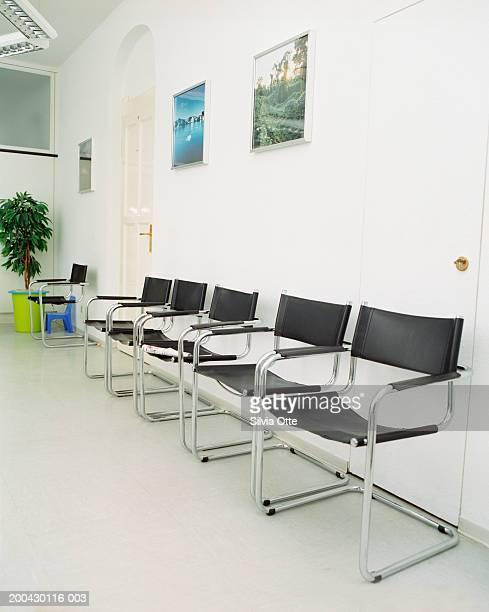 Empty seats in doctor's waiting room