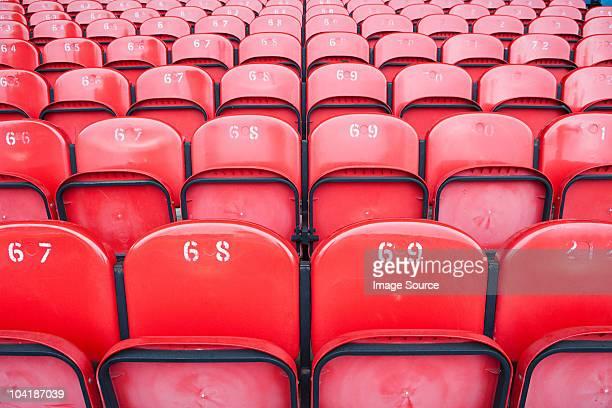 Empty seats in football stadium