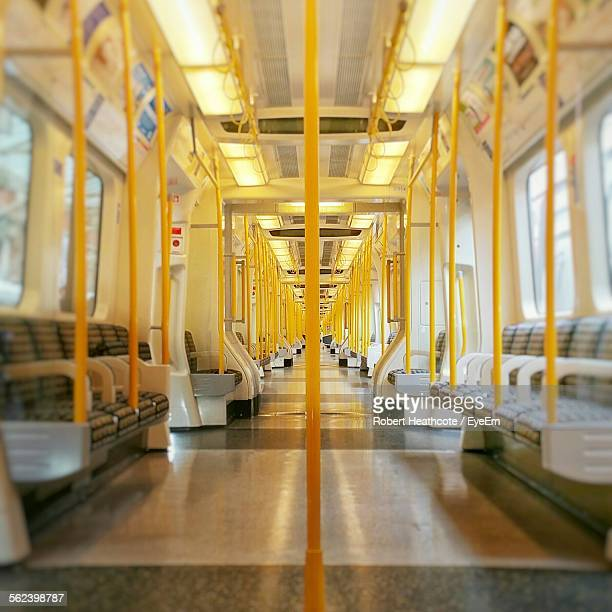 empty seats in the train - vehicle interior stock pictures, royalty-free photos & images