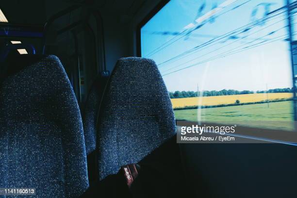 empty seats in train - seat stock pictures, royalty-free photos & images