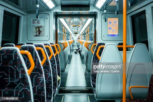 empty seats in train - public transport stock pictures, royalty-free photos & images