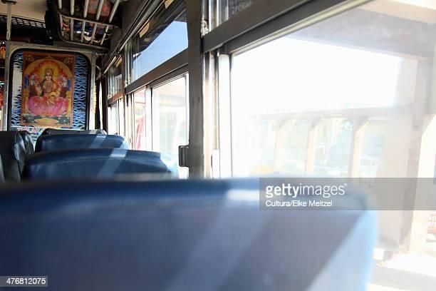 Empty seats on bus