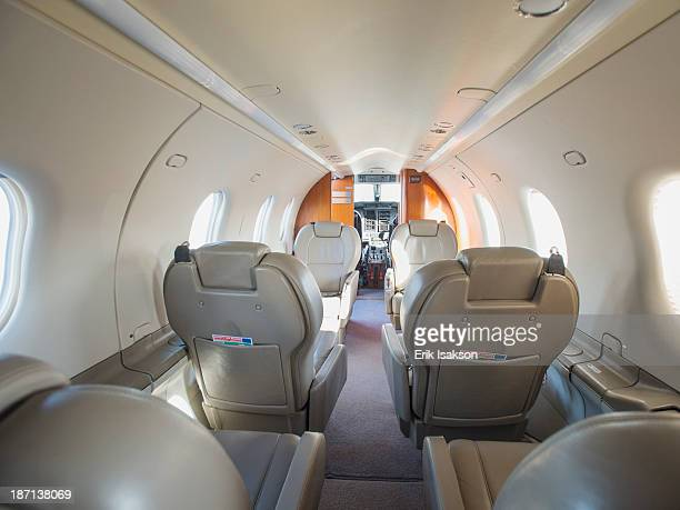 Empty seats on private jet
