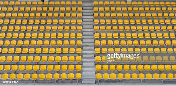 empty seats - empty bleachers stockfoto's en -beelden