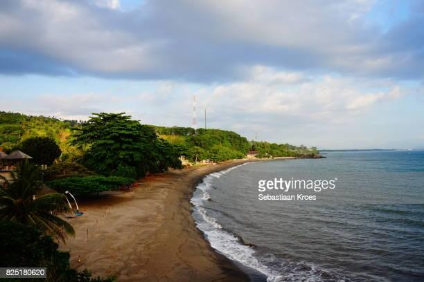 Empty Sengigi Beach at Dusk, Colourful Lombok, Indonesia