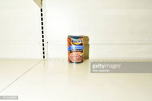 Empty shelves at a Vons supermarket in Burbank, California as the coronavirus continues to spread across the United States on March 14, 2020 in...