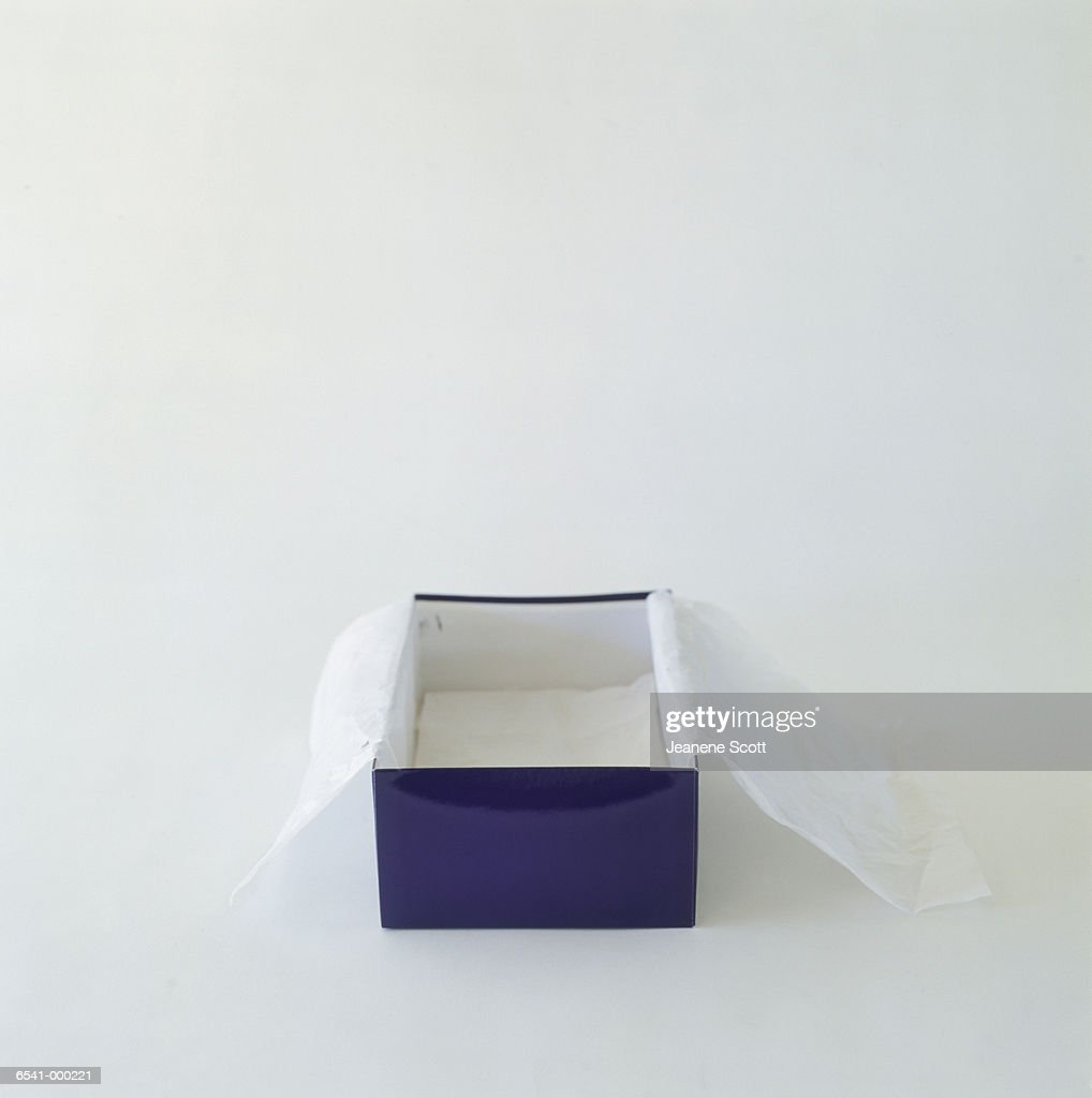 Empty Shoebox : Stock Photo