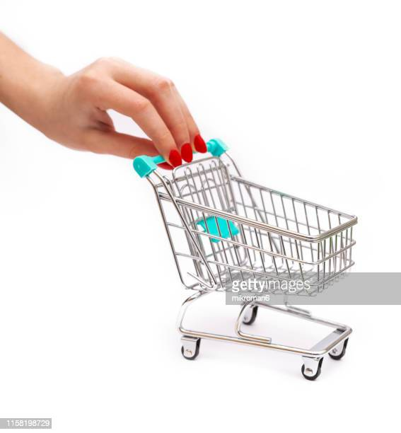 empty shopping cart - red nail polish stock pictures, royalty-free photos & images