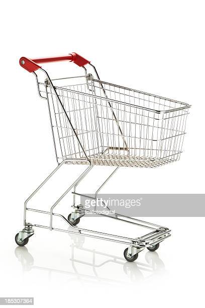 empty shopping cart - shopping cart stock pictures, royalty-free photos & images