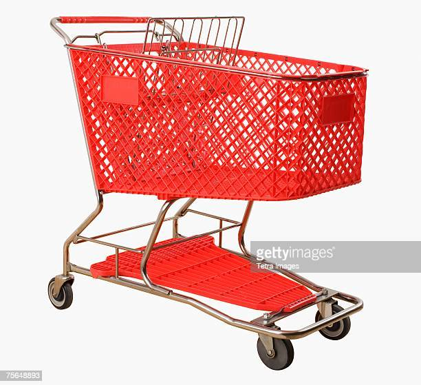 empty shopping cart - shopping trolley stock pictures, royalty-free photos & images