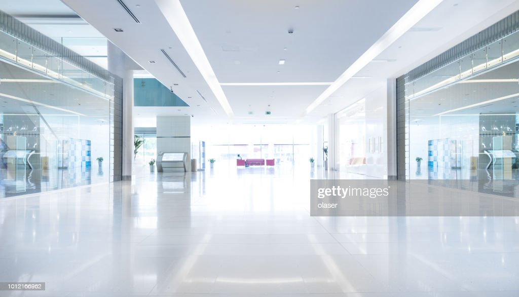 Empty shopping centre in sunset, Dubai : Stock Photo