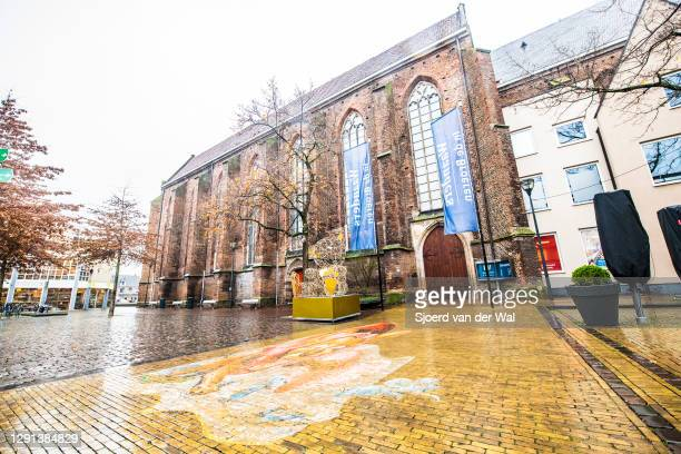 Empty shopping street after the forced Coronavirus lockdown on December 15, 2020 in Zwolle, Netherlands. From December 15 the Netherlands government...