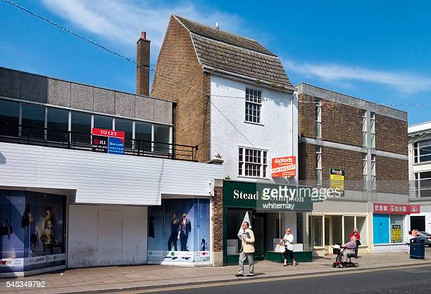 Empty shops in King Street, Great Yarmouth