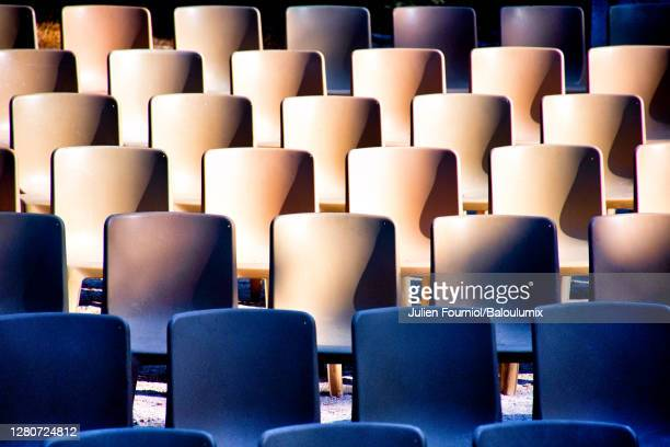 empty show seats, nice, france - concert hall stock pictures, royalty-free photos & images