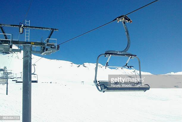 empty ski leftover ski slope - ski lift stock pictures, royalty-free photos & images