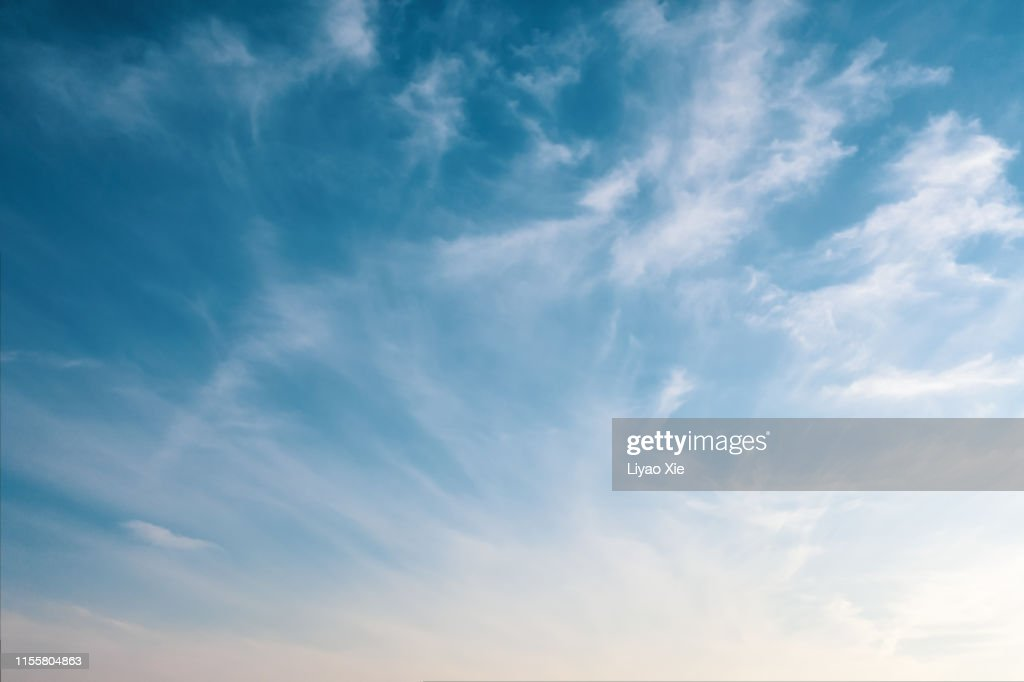 Empty sky with clouds : Stock Photo