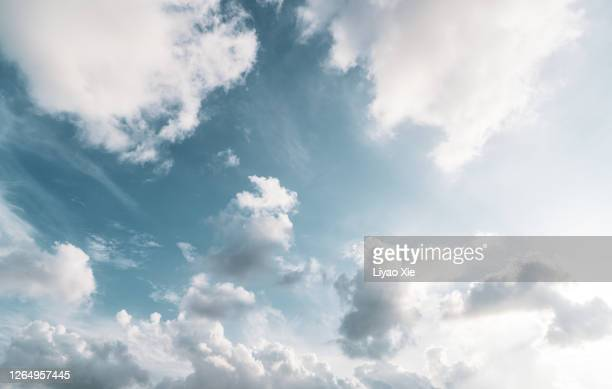 empty sky with clouds - liyao xie stock pictures, royalty-free photos & images