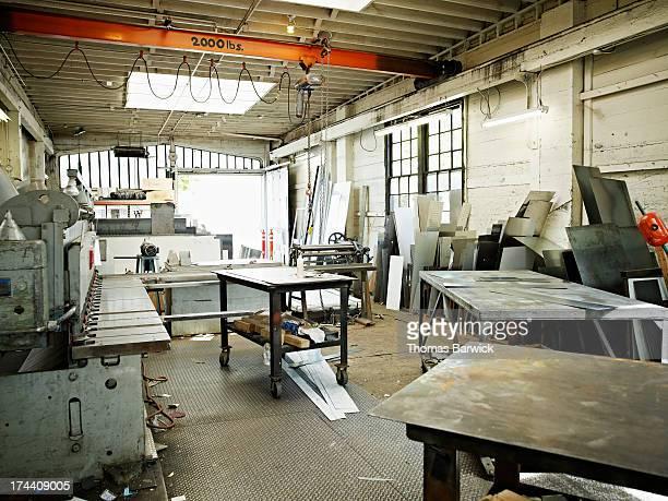 Empty small sheet metal shop