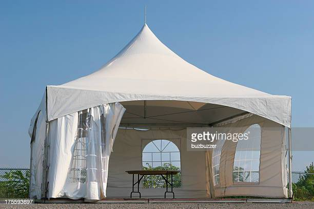 empty small tent kiosk - tent stock pictures, royalty-free photos & images