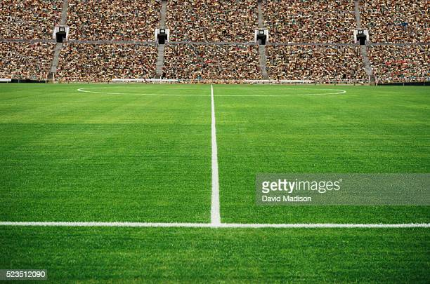 empty soccer field - soccer field stock pictures, royalty-free photos & images