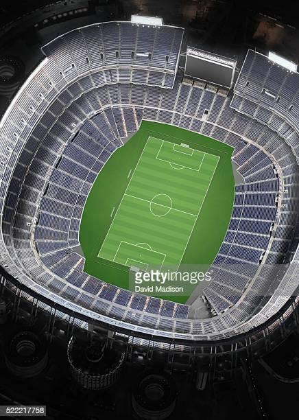 Empty Soccer Stadium, Aerial View