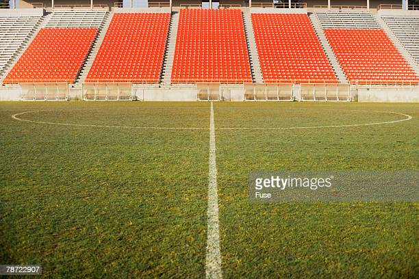 empty soccer stadium - empty bleachers stock photos and pictures