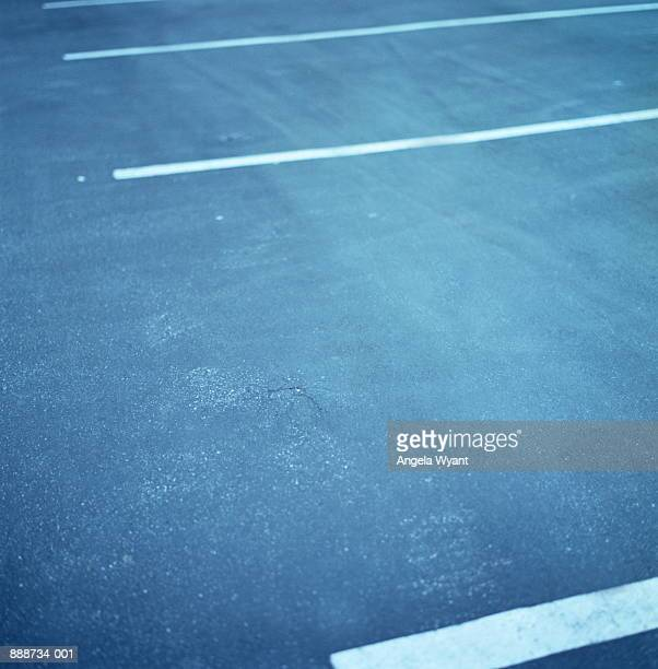 Empty space in car park, close-up