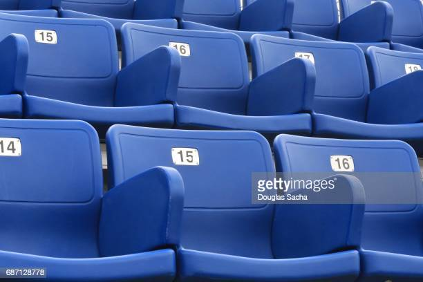 Empty Spectator seating in a arena